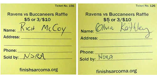 Ravens vs Buccaneers Raffle – Winners!